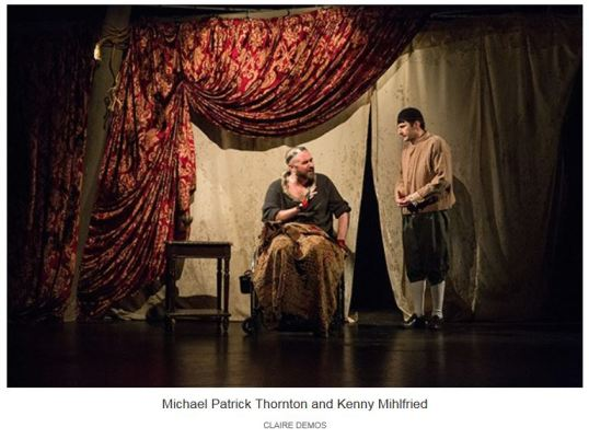 Shakespeare's Richard in a wheelchair....