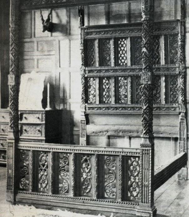 Stanley's bed before restoration
