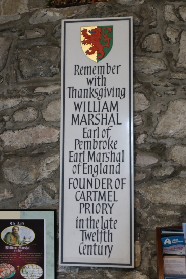 Memorial in Cartmel Priory