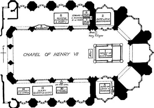 Plan of Henry VII's Chapel, Westminster Abbey