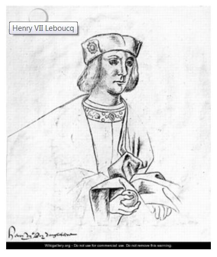 drawing of young Henry VII