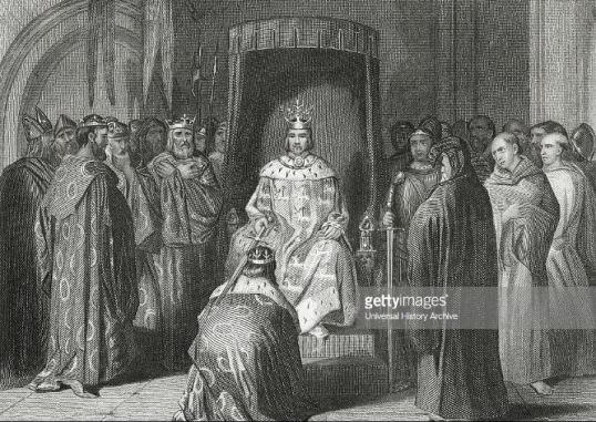 Dublin - Richard II knighting the Irish kings - 1394