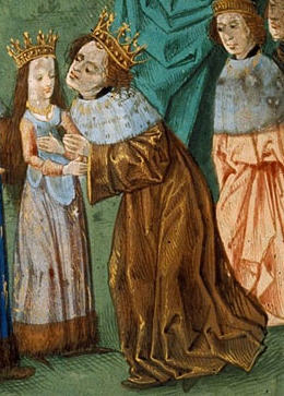 Richard II receives his new queen, Isabella of Valois