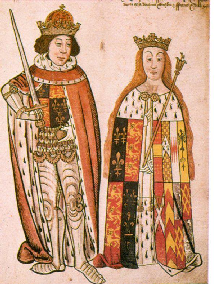 Richard III and Anne Neville - Rous Roll