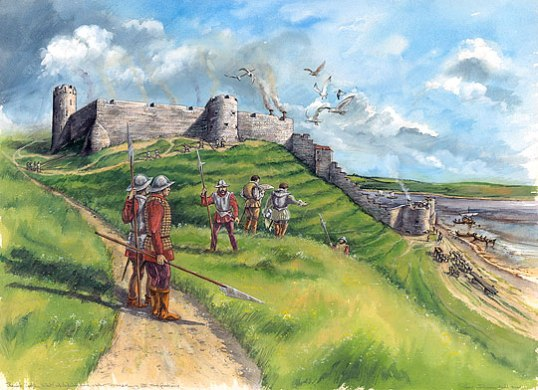 Berwick Castle in about 1300