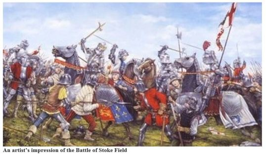 Stoke Field - artist's impression of battle