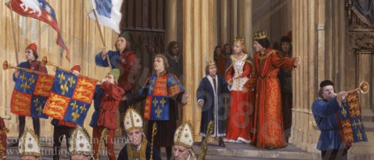 York Minster - investiture of Edward of Middleham as Prince of Wales