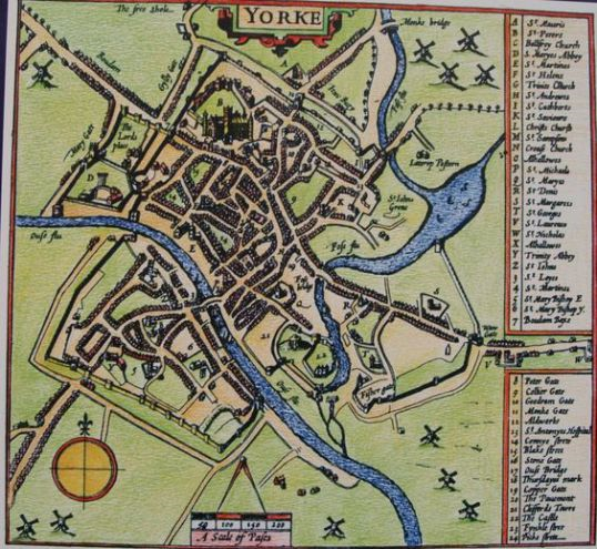 York - Speed's Map of 1610-11