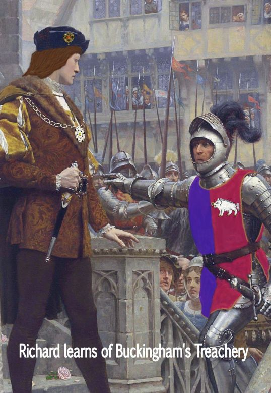 Richard learns of Buckingham's treachery - Edmund Blair Leighton Call to Arms