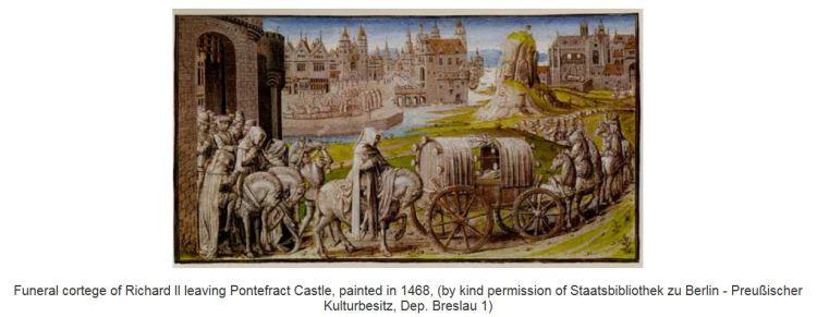RII funeral procession, drawn in 1468